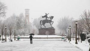 зима в Узбекистане