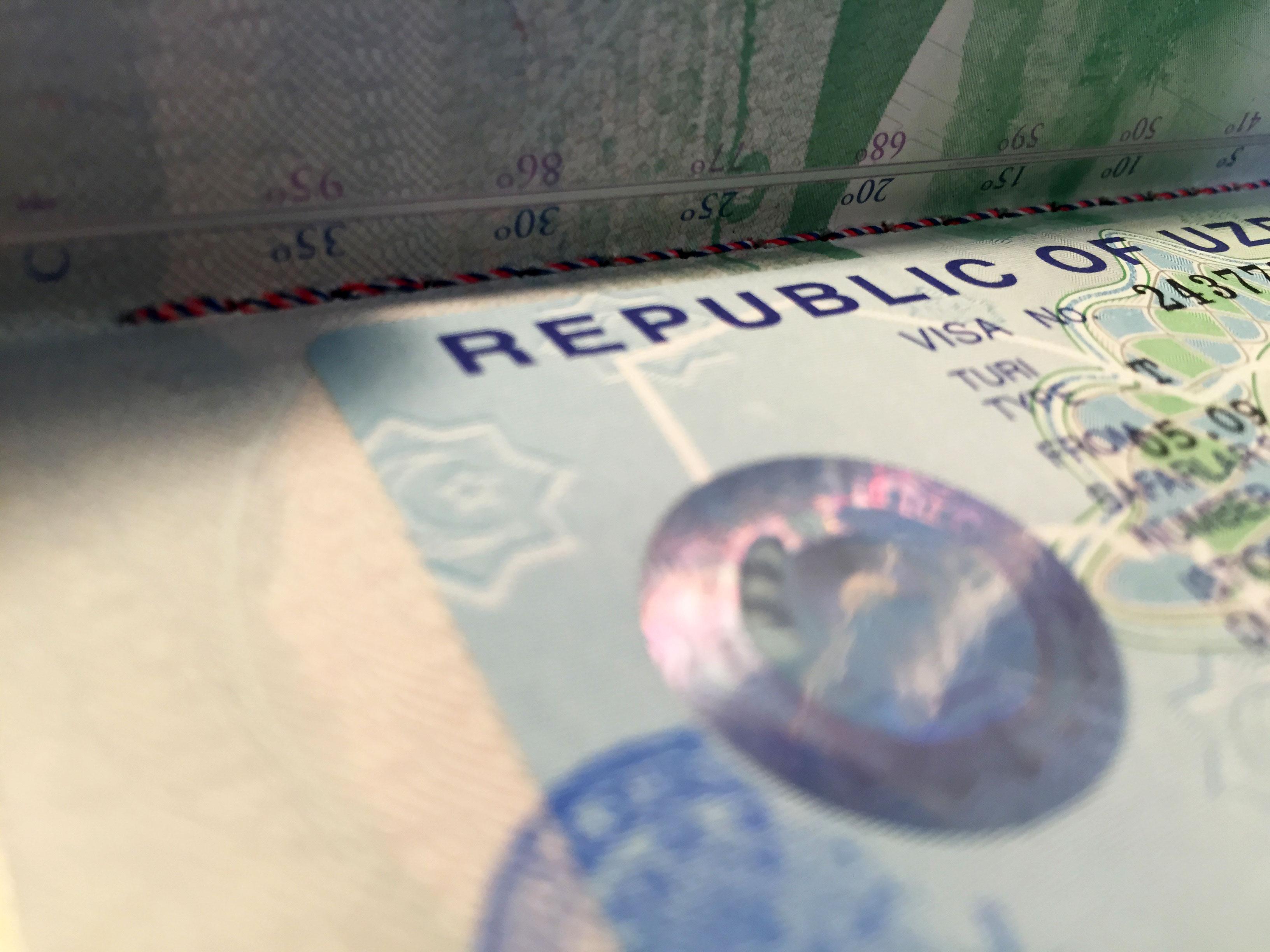 Uzbek visa / Узбекская виза